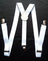 beautiful braces - Beautiful PC White Unisex Clip on Braces Elastic Suspenders