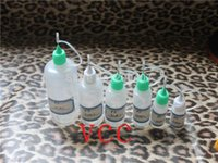 Wholesale ml pet Plastic Needle Dropper Bottles With Safe Tips NEW LDPE