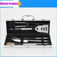 barbecue tool sets - BBQ Grilling Tool Set for picnics BBQ Deluxe Durable with Aluminum Storage Case perfect DHL