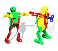 Wholesale Nice Price Children Yellow Green Red Plastic Wind up Dancing Robot Toy