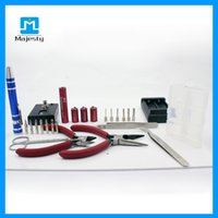 Wholesale E cigs tool atomizer vape Coil jig universal tools kits to DIY pre buit coils kanthal wire coiler for ecig rda rba atomizers