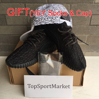 Wholesale 2015 Authentic Original Kanye West Yeezy Boost Low YZY Men s Sports Running Shoes Red October Black White Gary Moon Rock Oxford Tan