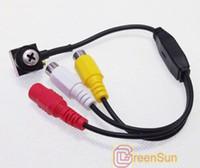 Wholesale 600TVL Mini Screw Model Camera Security CCTV Wired Audio Hidden Spy Cam GD2562