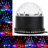 ball spotlight - 110V V W Sound Activated Rotating LED Stage Lighting Effect RGB Crystal Magic Ball Effect Spotlight Disco DJ Stage US Plug H10661