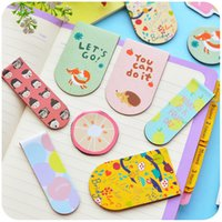 Wholesale Children primary metal Mini magnetic magnet fine bookmark quietly love cute creative day Korea stationery