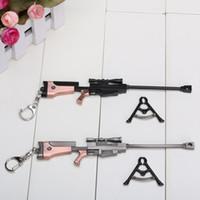 art sniper - 18cm Sword Art Online SAO Asada shino Sniper Rifle Pendant Keychain Key Ring Key Chains