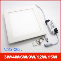 1001-3000 LM flat panel led lighting - Ultra Thin Design W W W W W W LED SMD2835 Ceiling Recessed Grid Downlight Slim Square Flat Panel Light