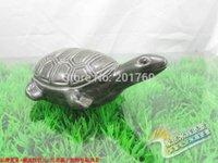 automatic turtle feeder - Large size turtle ceramic crafts simulation decoration fish tank aquarium decoration