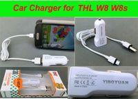 Cargador de coche USB para THL W8 W8S W8 + W8e W7 W5 W3 W100 W300 W200 W1 W2 V11 V12 V9 W6 W11 todos los teléfonos móviles THL 5V 1A Seguridad