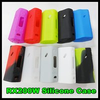 Wholesale RX200 Silicone Cases Silicon Case Colorful Rubber Sleeve Protective Covers Skin For Vaporizer Wismec Reuleaux RX200 TC RX Box Mod Free