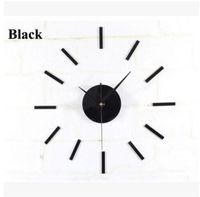 Negro reloj de pared Mecanismo de Movimiento 3 Manos Blancas reparación de piezas de bricolaje envío libre del kit, dandys