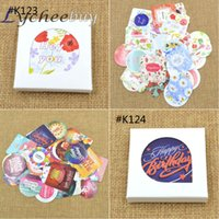 Wholesale 1 Box Envelope Seal sticker Happy Every Day Flower Happy Birthday Diary Paper Crafts
