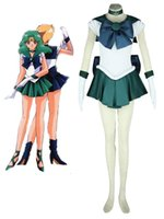 Wholesale Anime Sailor Moon Sailor Neptune Kaiou Michiru Fighting Uniform Cosplay Costume Tailor Made