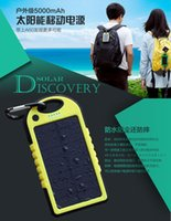 Wholesale Solar Charger Dual USB mAh Waterproof Solar Panel Battery Chargers for Smart Phone PAD Tablets Camera Mobile Power Bank DHL Free