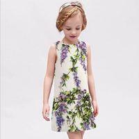 european clothing - Wlmonsoon New European Style Childrens Sleevelesss Floral Dresses Baby Girls Elegant Flower Princess Dress Kids Clothes