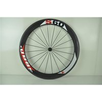 Wholesale S60 White Red Decals Bike Carbon Wheels Wheelsets mm C Cycling Bicycle Parts Clinchers Alloy Ceramic Bearings Bike Frames