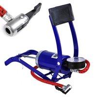 basketball air pressure - Hot mini motorbike pump bicycle basketball inflatable pump tire pressure car air pump compressor foot pump