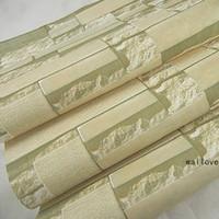 3D beige / blanc Papier peint en pierre de bloc d'ardoise Papier peint en brique de PVC en vinyle pour la chambre à coucher amélioration de la maison papel de parede pour quarto