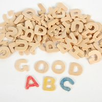Wholesale 208PCS Paint unfinished wood alphabet A Z letters Early educational toys Wood crafts Wood toys English learning cm