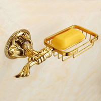 antique brass bathroom accessories - 2014 Hot New arrival Antique Brass Soap Holder Copper Soap Dishes Carved Soap basket soap base bathroom accessories ZP