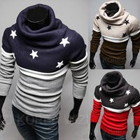 Wholesale 2014 new fashion slim men s Sweaters Casual Embroidery Splice men s clothing Piles collar mens s Sweatshirts gray