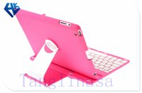 Wholesale Aluminum Swivel Rotating Stand Case Cover Bluetooth Keyboard For iPad2