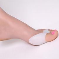 Wholesale Pair Gel Silicone Bunion Corrector Toe Protector Straightener Spreader Foot Care Tool Toe seperator