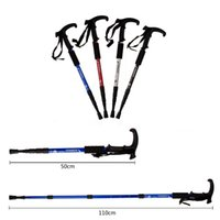 aluminum canes - Ultra light Adjustable Cane Telescopic Aluminum Alloy Hiking Walking Stick Nordic Walking Poles Colors Hiking Stick