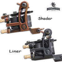 copper tattoo machine - 2 Tattoo Machine Gun Liner Shader Steel Frame Copper Coils WQ4447