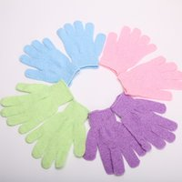 Wholesale Exfoliating Bath Glove Five fingers Bath Gloves attractive in price and quality