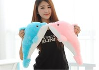 Stuffed & Plush,Soft big plush dolphin - new Plush toy dolphin big doll dolphin Large day gift CM CM blue pink color