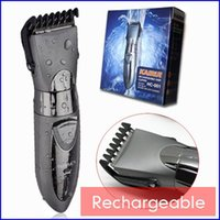 Wholesale Silver Waterproof Rechargeable Beard Hair Clipper Shaving Electric Hair Trimmer Waterproof Razor Styling Tools shaver
