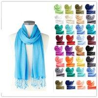 Wholesale 27 Colors Cotton Pashmina Scarf Colorful Candy Women Scarves Soft Pashmina pure color Scarves