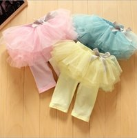 Wholesale Wholesales new Baby Kids Children s girls spring autumn princess cotton lace skirt Leggings Tights NT
