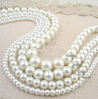 pearl heart beads - Glass Pearl Round Spacer Loose Beads mm mm mm mm