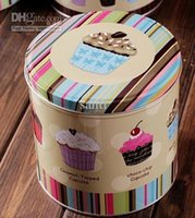 food storage tins - HOT SELL Jumbo Choco chip Design Cookie Jar Candy Can Home tin set cake storage food box container