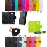 Mercurio cuero de la PU de doble Holster Huawei lg Lite p8 León cajas del teléfono Xperia Z3 compacto Monederos Huawei p6