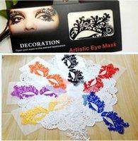 Wholesale Art eyelashes using carbon fiber cloth paper cut eye patch eyeliner China art False eyelash