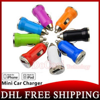 Wholesale 1000pcs High Quality MINI USB CAR CHARGER ADAPTER For All IPhone s Samsung galaxy S4 S5 Mobile Phone