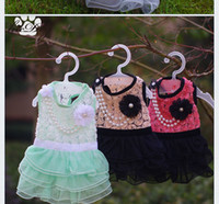 Dogs dog wedding dress - 2015 dog dress New design dog clothes wedding dresses girl chihuahua yorkshire teddy poodle pet products clothing for summer cute grooming