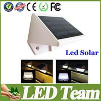 Wholesale New LED Solar Power Motion Sensor Garden Security Lamp Outdoor Waterproof solar Light LEDS Warm White Cool White CE CSA UL