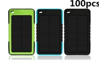 Wholesale 100X Waterproof Solar Charger mah Solar Power Bank External Battery for smartphone ipad camera iPhone Samsung TY
