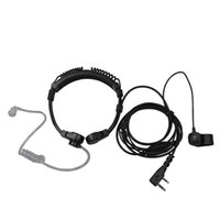 acoustic pro - Flexible Throat Mic Microphone Covert Acoustic Tube Earpiece Headset With Finger PTT for Baofeng Uv r s s s Kenwood Pro Talk XLS