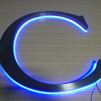 Wholesale advertising backlit stainless steel LED letter sign and d sign letters