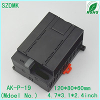 Wholesale 1 szomk PLC plastic junction housing enclosure mm szomk din rail abs enclosure din rail electronic junction box new enclosure