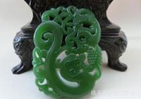 Wholesale Natural Xinjiang Kunlun jade dragon pendant hollow hollow collar phoenix couple jade pendant Antique