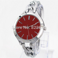 big jewelry boxes - Fashion bracelet women with red dial Stainless steel big wristwatches luxury lady watch japan movement wristwatch free box