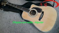 chinese acoustic guitars - Custom Dreadnought Cutaway Acoustic Guitar ebony fretboard Natural Chinese Acoustic Guitars