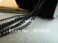 Wholesale Free Delivery Electrophoresis black mm Chains Extend Chain meters Beads Jewelry Making Supplies