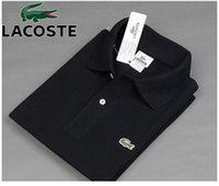 Cheap Dress Shirts Crocodile polo shirt Best Short Sleeve 100% Cotton Mens Short sleeved shirts